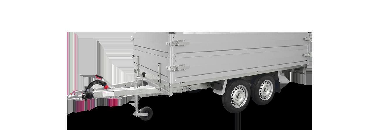 Anssems plateauwagen PLT tandemas met opzetborden