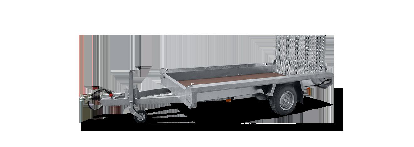 Terrax Basic enkelas machinetransporter