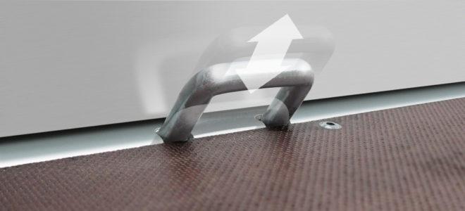 Medax bindhaken op laadvloer