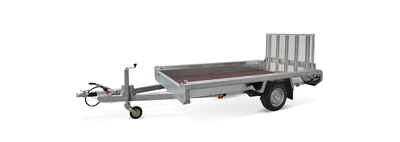 Terrax-Basic enkelas machinetransporter
