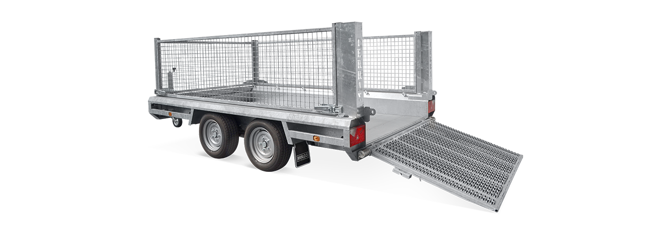 Terrax tandem machinetransporter met loofrekken