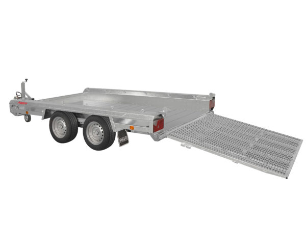 Hulco Baumaschinentransporter gebremst TERRAX-2-3000-294x150 Klappe 150 cm
