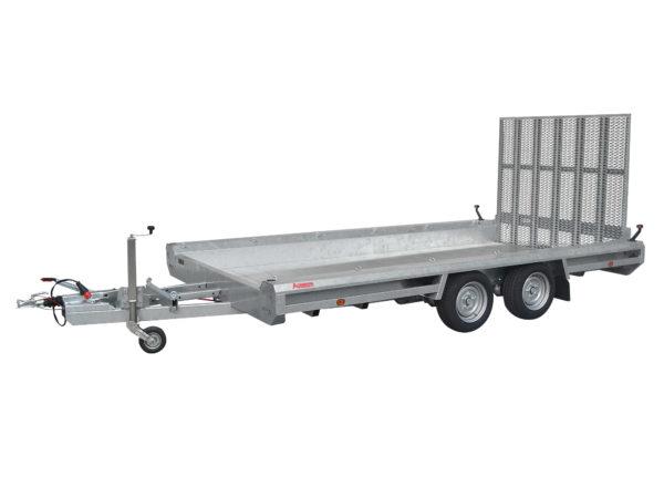 Hulco Baumaschinentransporter gebremst TERRAX-2-3000-394x180 Klappe 150 cm