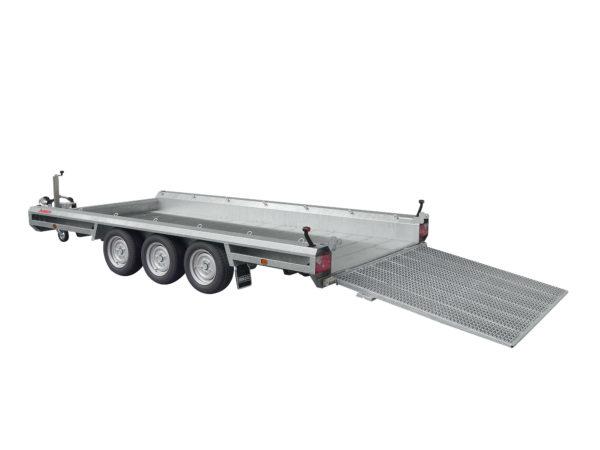 Hulco Baumaschinentransporter gebremst TERRAX-3-3500-394x180 Klappe 150 cm
