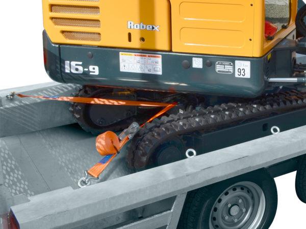 Hulco Baumaschinentransporter gebremst TERRAX Bindeaugen