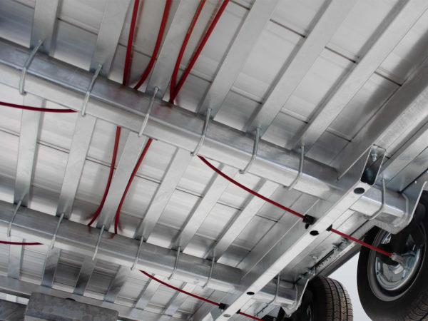 Hulco Baumaschinentransporter gebremst TERRAX Fahrgestell