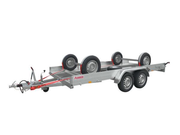 Anssems Fahrzeugtransporter gebremst AMT-2000 400x188-ECO mit EasyFix und Reserverad