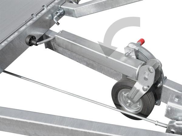 Anssems Anhäger AMT-2500 Fahrzeugtransporter gebremst 340x170 cm